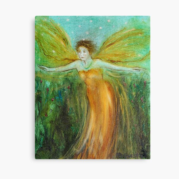 """Garden Angel"" Canvas Print"
