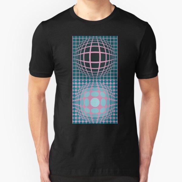 Vasarely Museum # 5 Slim Fit T-Shirt