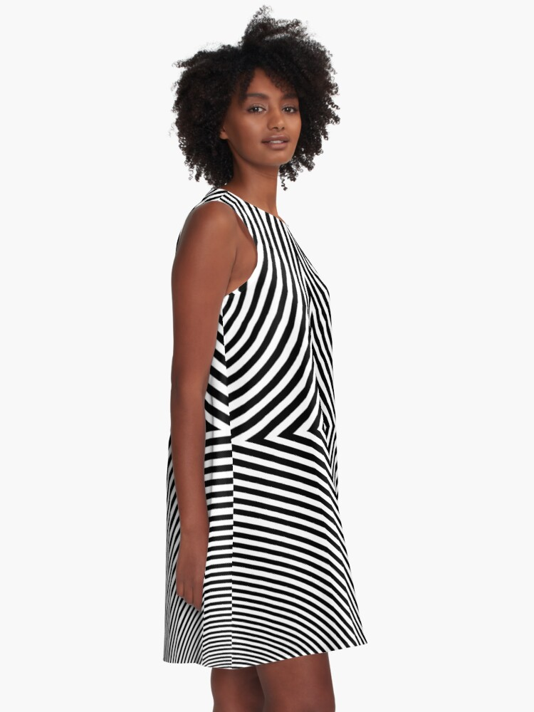 Alternate view of #Hypnosis #Hypnotic Image #HypnosisImage #HypnoticImage A-Line Dress