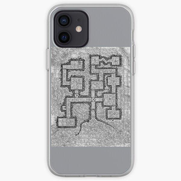 Old School Dungeon Map Design 3 iPhone Soft Case