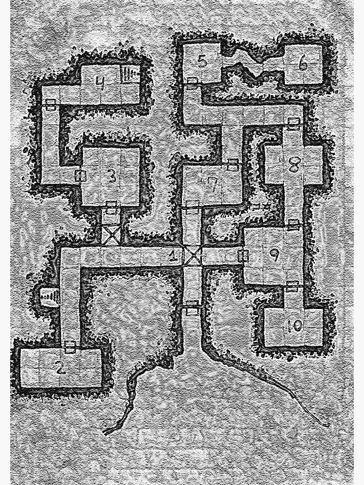 Old School Dungeon Map Design 3 by TFCreative