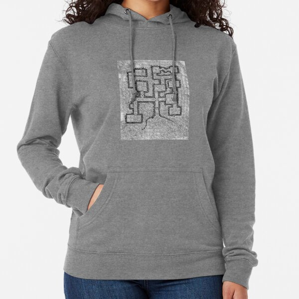 Old School Dungeon Map Design 3 Lightweight Hoodie