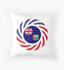 Saint Helena American Multinational Patriot Flag Series Throw Pillow