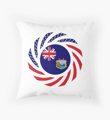 Saint Helena American Multinational Patriot Flag Series Throw Pillow
