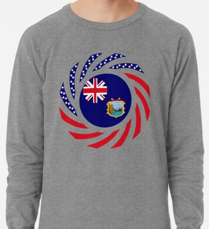 Saint Helena American Multinational Patriot Flag Series Lightweight Sweatshirt