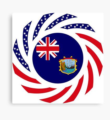 Saint Helena American Multinational Patriot Flag Series Canvas Print