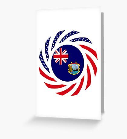 Saint Helena American Multinational Patriot Flag Series Greeting Card