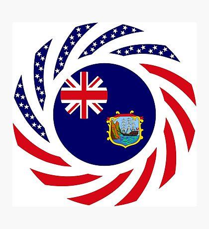 Saint Helena American Multinational Patriot Flag Series Photographic Print