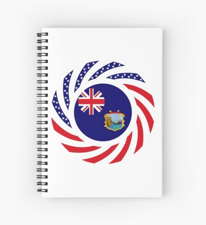Saint Helena American Multinational Patriot Flag Series Spiral Notebook