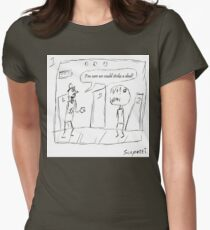 Ted attempts to turn the tide of an ugly encounter Womens Fitted T-Shirt