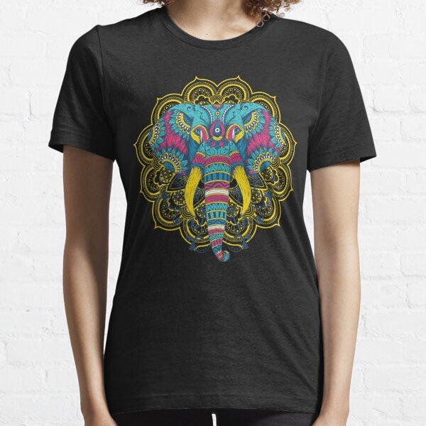 Indischer Elefant Mandala Essential T-Shirt