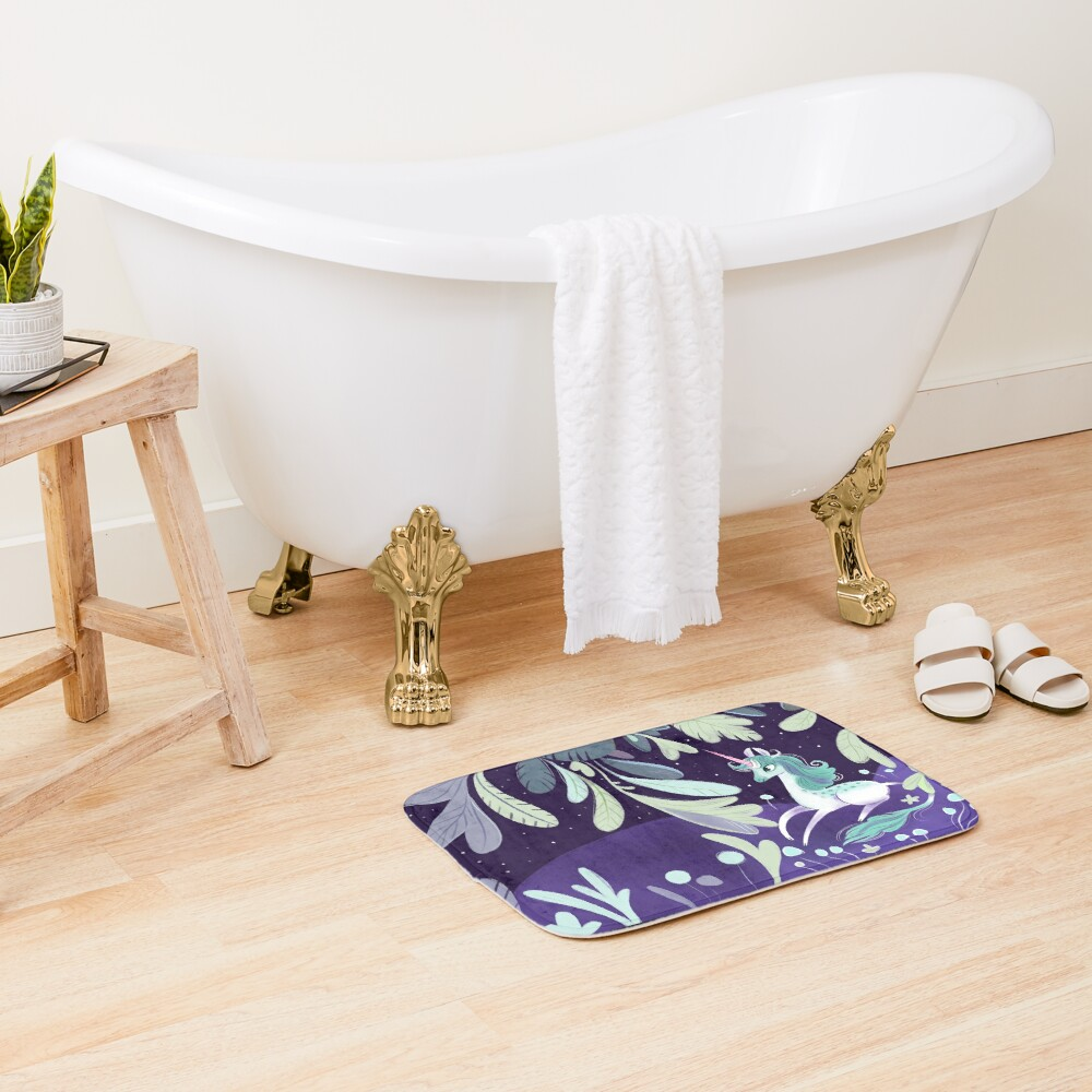 Starry unicorn Bath Mat