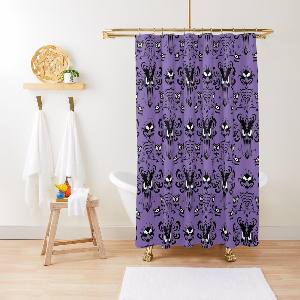 999 Happy Haunts Shower Curtain