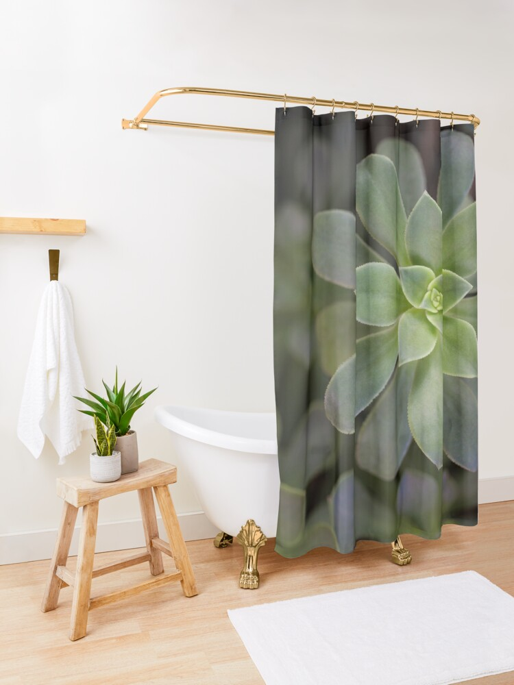 Alternate view of Zen Is Green Shower Curtain