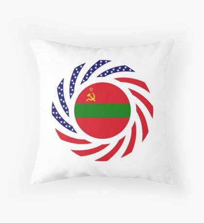 Transnistrian American Multinational Patriot Flag Series Throw Pillow
