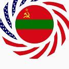 Transnistrian American Multinational Patriot Flag Series by Carbon-Fibre Media