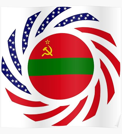 Transnistrian American Multinational Patriot Flag Series Poster
