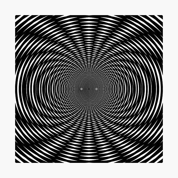 #Design, #abstract, #pattern, #illustration, psychedelic, vortex, modern, art, decoration Photographic Print
