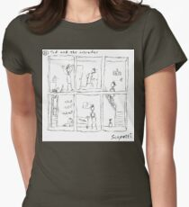 Ted and the intruder Womens Fitted T-Shirt