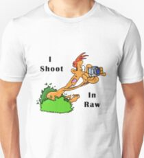 I Shoot In Raw Unisex T-Shirt
