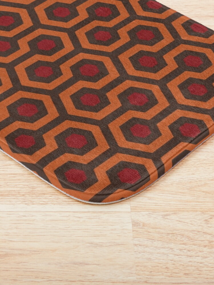 Alternate view of REDRUM Overlook Hotel Carpet Stephen King's The Shining Bath Mat