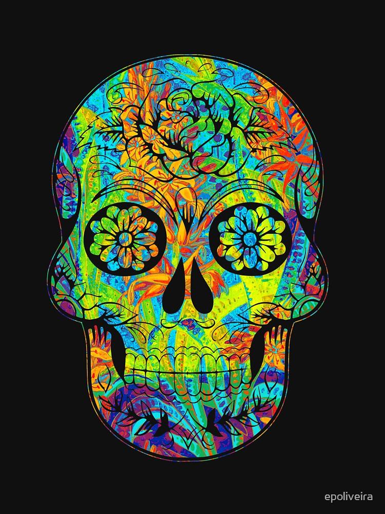 cool floral skull art by epoliveira