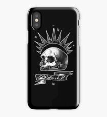 Misfit Skull Black iPhone Case