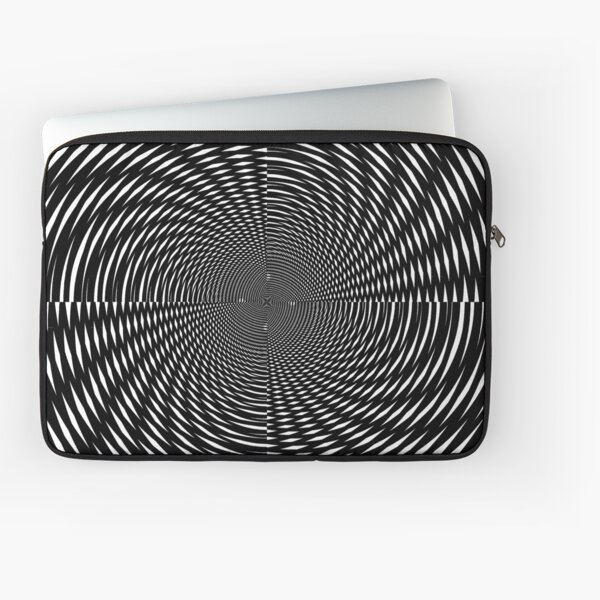 #Design, #abstract, #pattern, #illustration, psychedelic, vortex, modern, art, decoration Laptop Sleeve