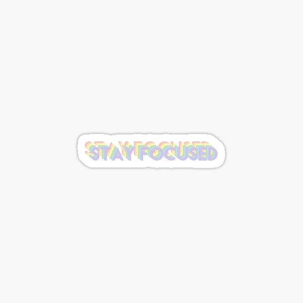 Stay Focused Rainbow Pastel Sticker