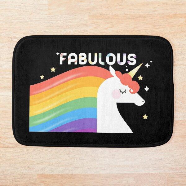 Fabulous Sparkling Rainbow Unicorn Bath Mat