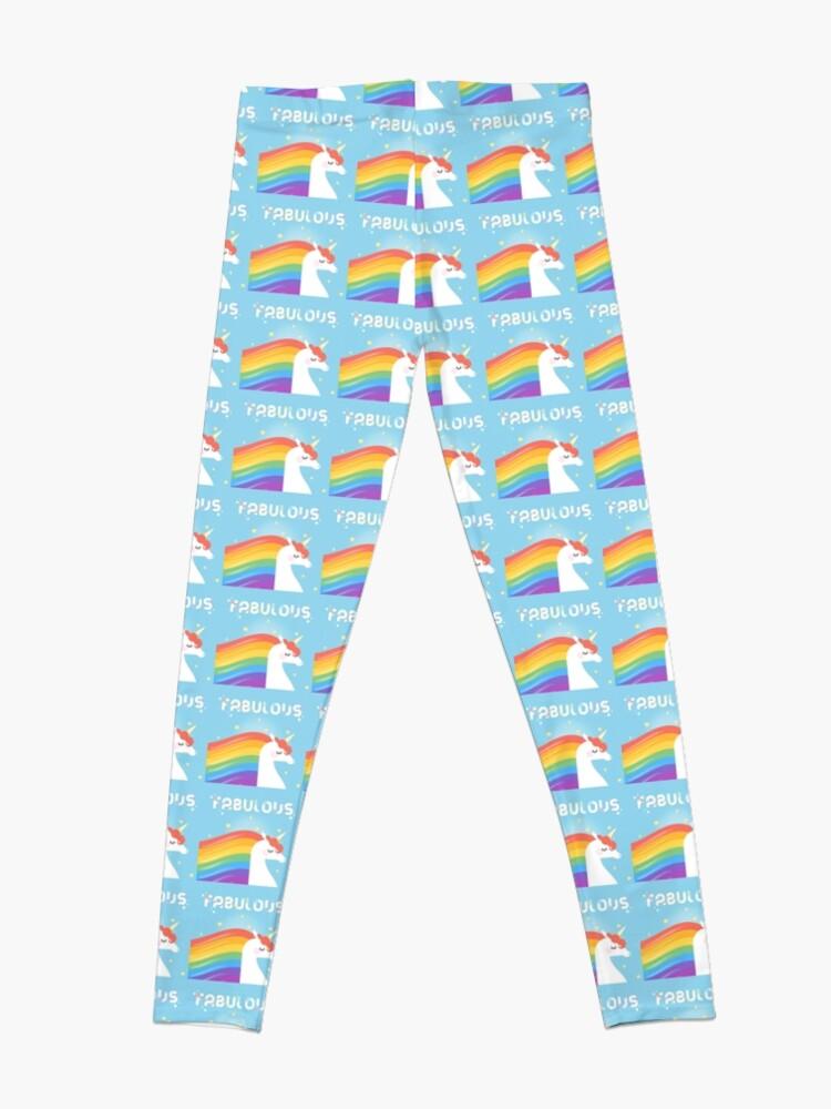Alternate view of Fabulous Sparkling Rainbow Unicorn Leggings