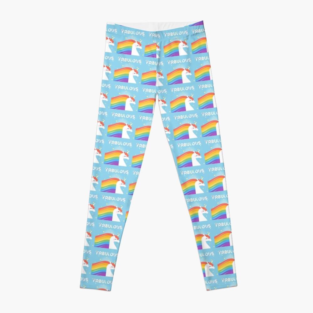 Fabulous Sparkling Rainbow Unicorn Leggings
