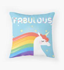 Fabulous Sparkling Rainbow Unicorn Floor Pillow