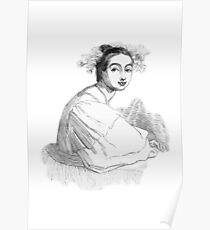 """Fair Antonia"" engraving after Gigoux, Gil Blas 1835 Poster"