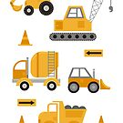 Construction Trucks  by latheandquill