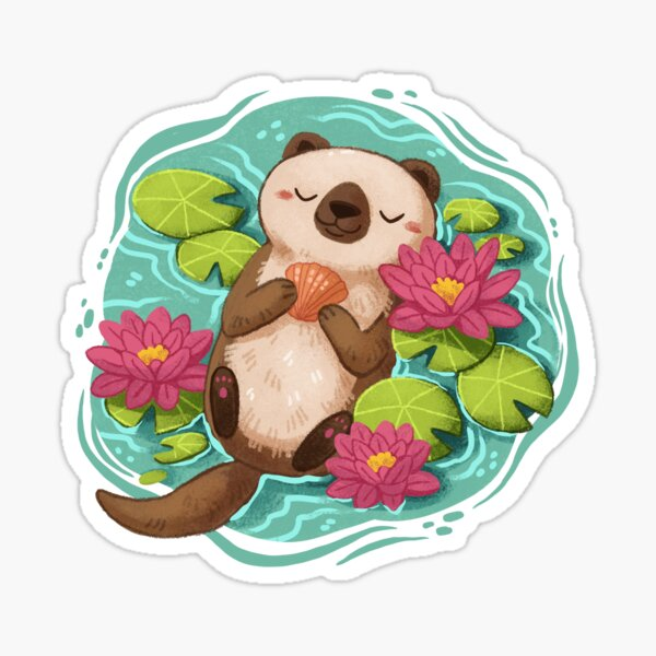 Happy Otter  Sticker