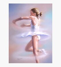 Piroette - Young ballerina spinning Photographic Print