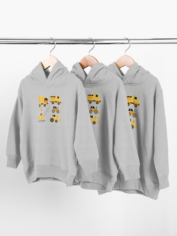 Alternate view of Construction Trucks on Gray Toddler Pullover Hoodie