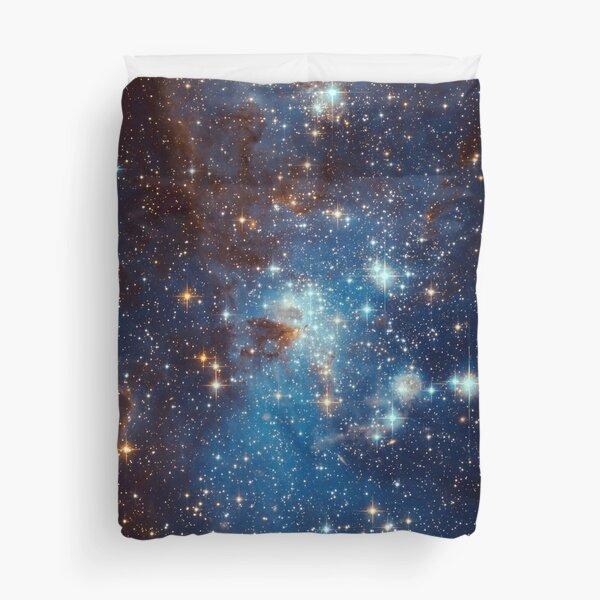 Blue Nebula Stars Space Duvet Cover