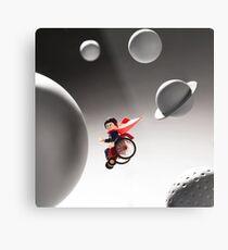 Wheelie Spaceman Metal Print