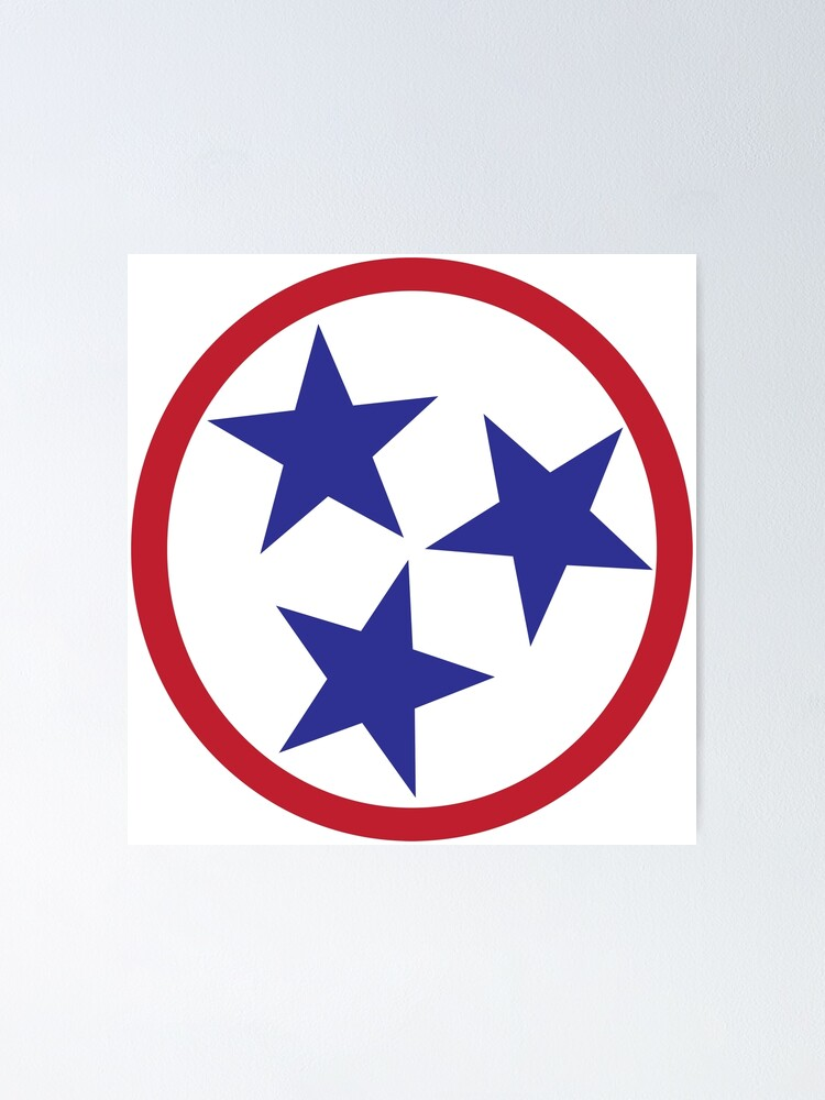 Tennessee Tri Star Poster By Amcelroy Redbubble