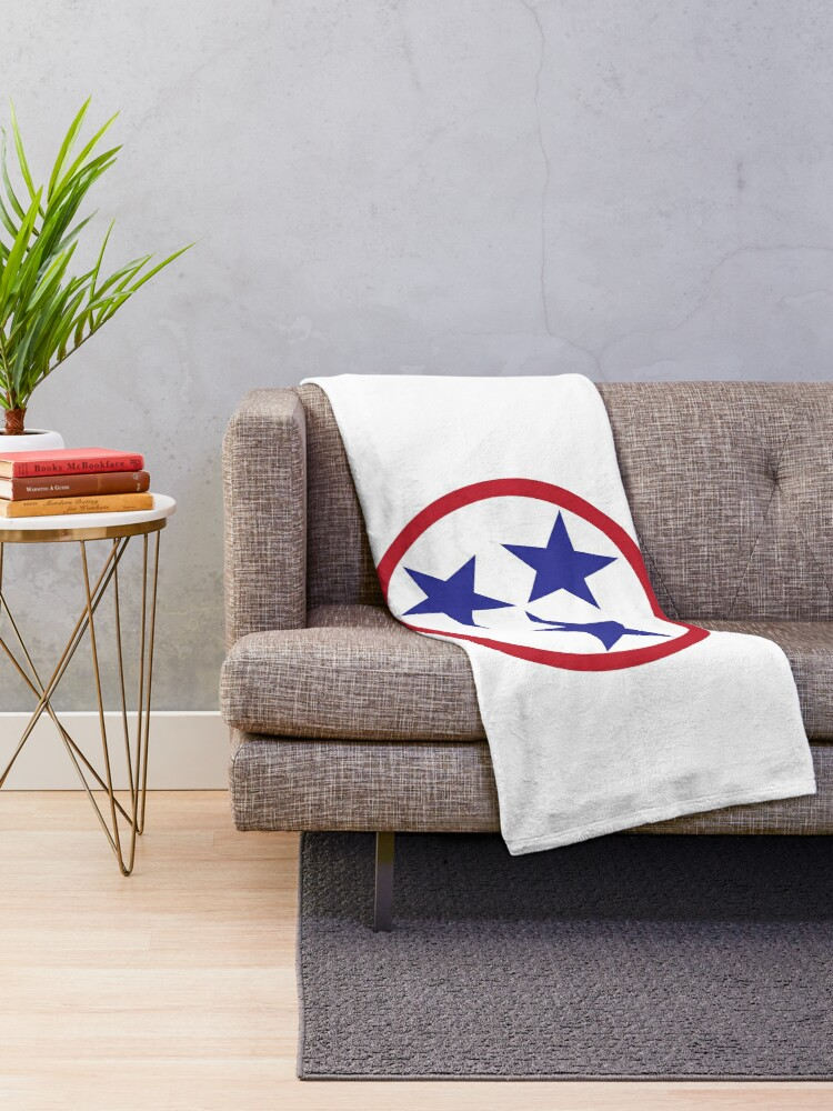 Tennessee Tri Star Throw Blanket By Amcelroy Redbubble