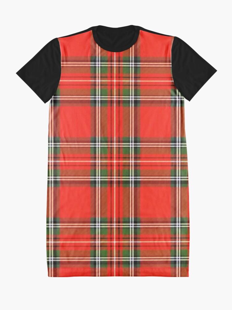 Alternate view of Christmas Plaid Graphic T-Shirt Dress
