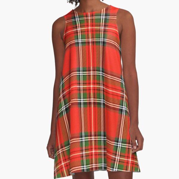 Christmas Plaid A-Line Dress