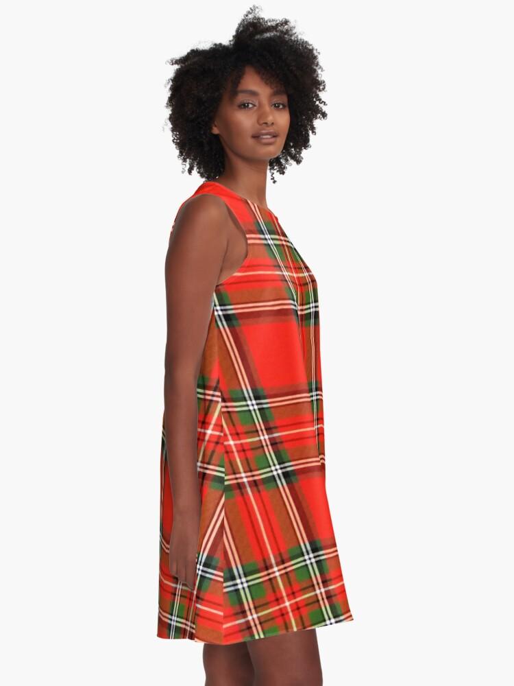 Alternate view of Christmas Plaid A-Line Dress