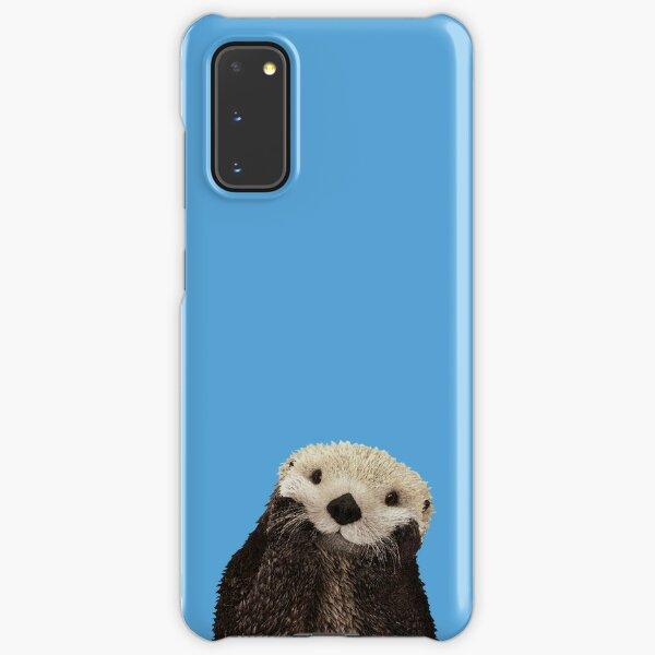 Cute Sea Otter on Apple Blue Solid. Minimalist. Clean. Coastal. Adorable.  Samsung Galaxy Snap Case