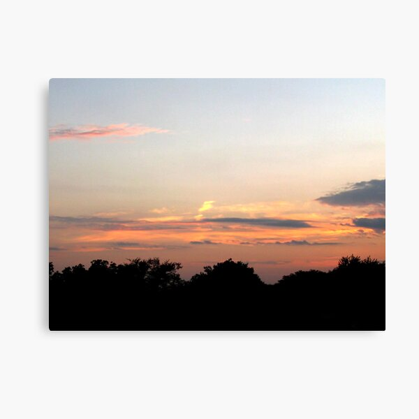 August Sunset Gold Canvas Print