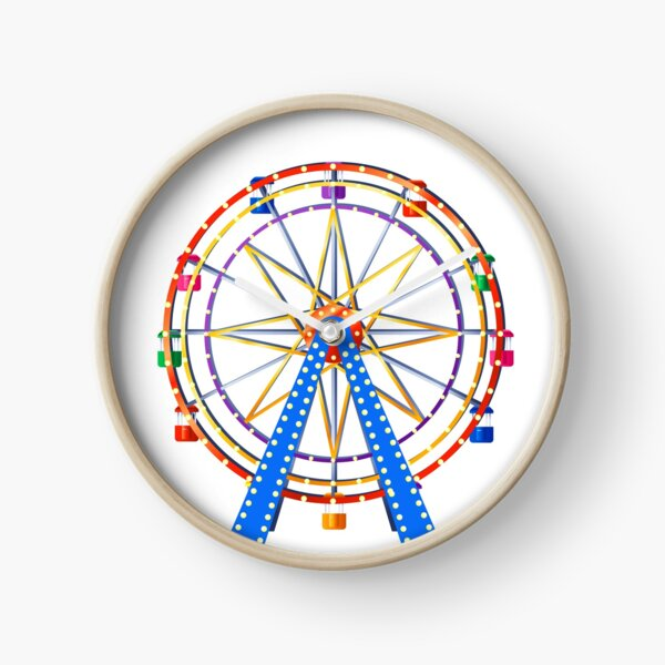 Amusement Park Ferris Wheel Clock