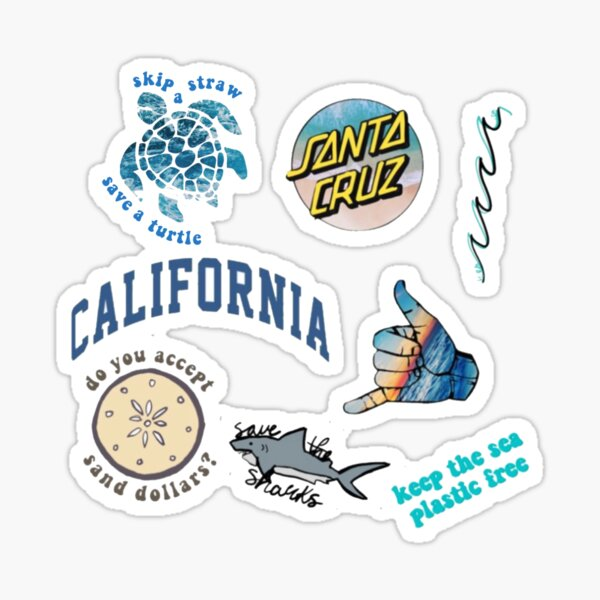 beach sticker pack #2 (get m or l) Sticker