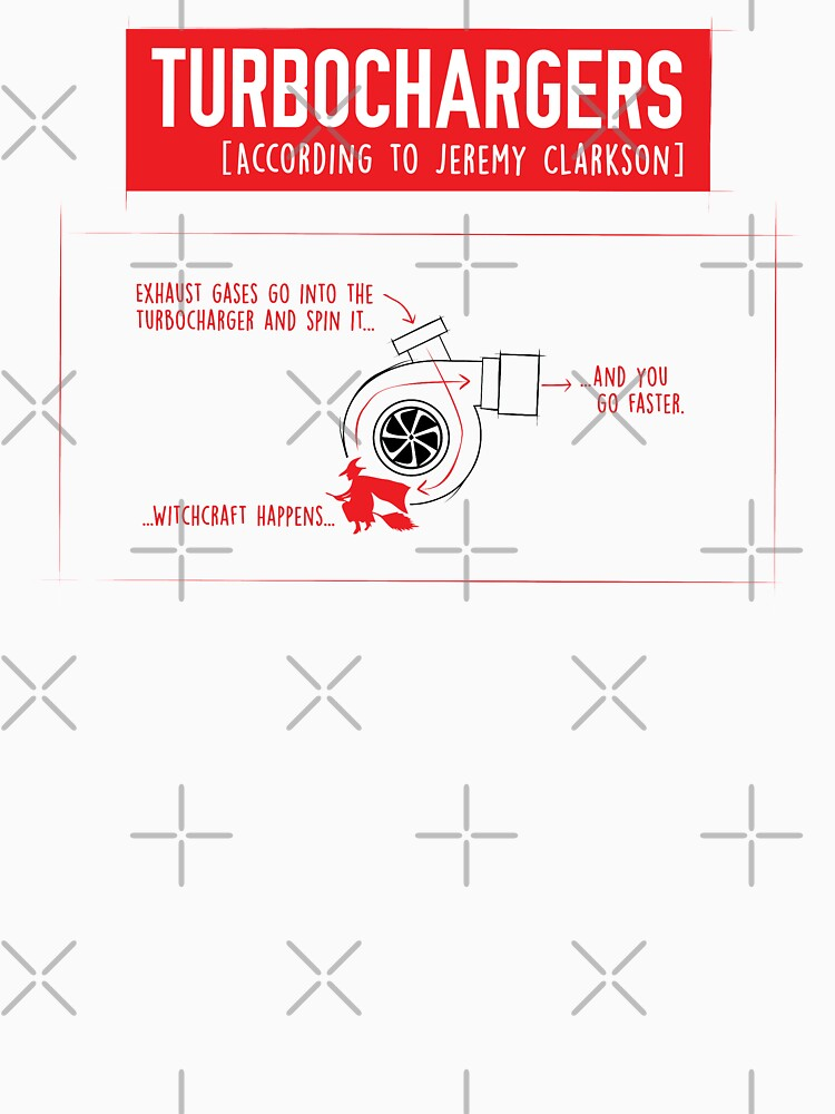 How Turbochargers work: by Jeremy Clarkson (red version) | Unisex T-Shirt